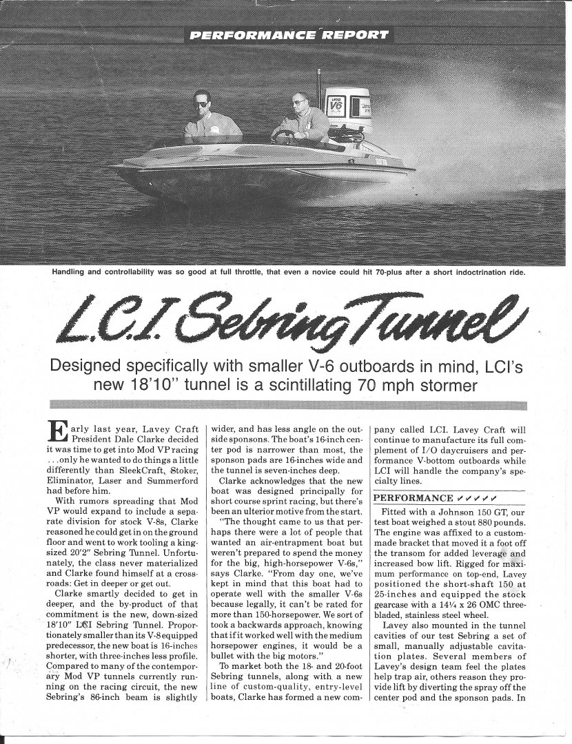 1987 Powerboat Magazine Review  - LCI Sebring Tunnel page 1.jpg