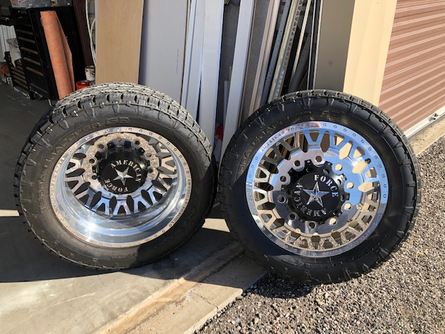 American Force 10 Lug GM Dually Wheels/Tires | River Daves Place