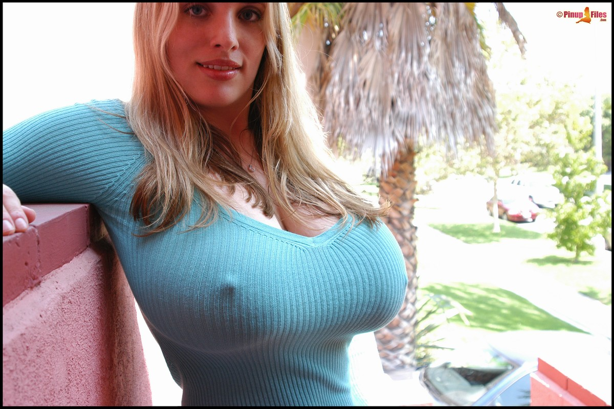 No bra sweater puppies