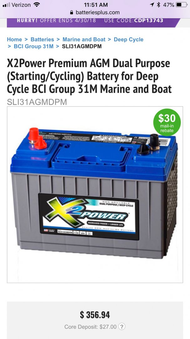 X2 Power Battery Good River Daves Place