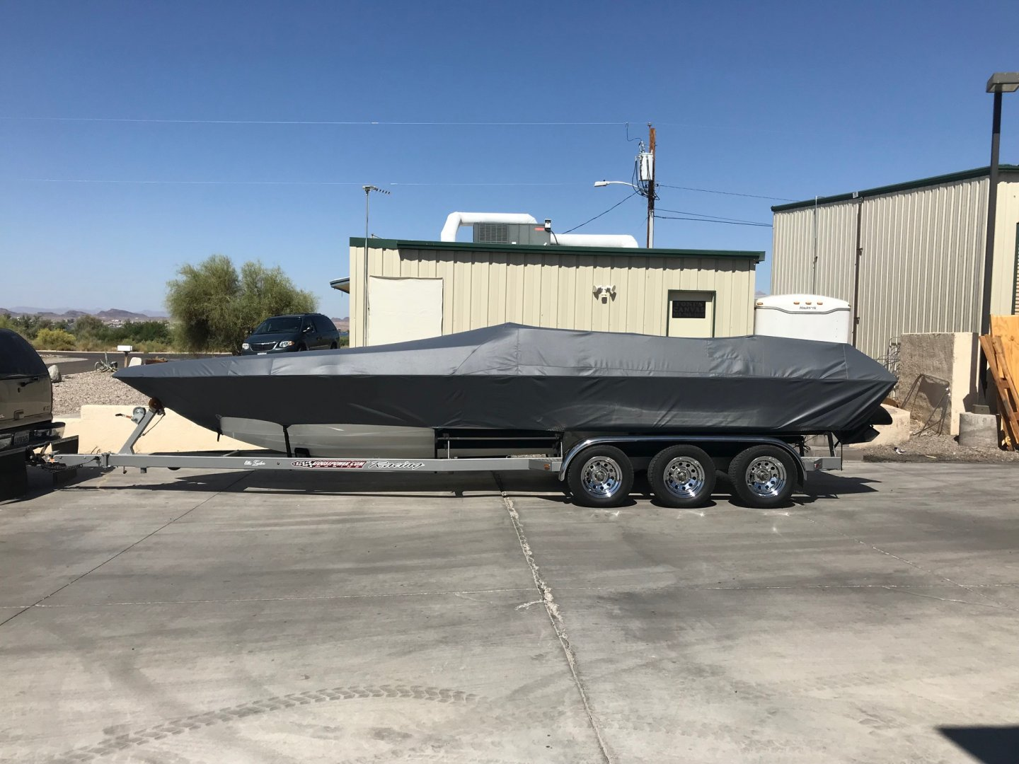 New custom boat cover | River Daves Place