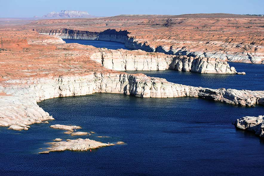 Lake Powell low water level out on lake.jpg