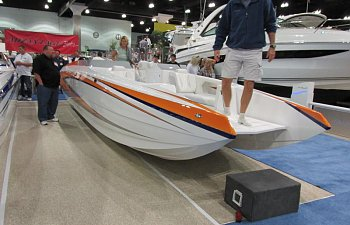 Howard Boats at the Los Angeles Boat Show Sport Deck