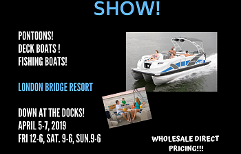 Second Boat Show at the London Bridge Resort this weekend!